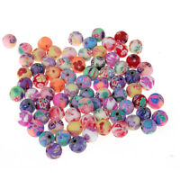 50pcs Candy Flower Round Loose Beads Spacer DIY Bracelet Jewelry Findings 8mm