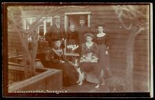 Faversham photo. Group & Dog by W.Hargrave, Faversham. From Ted & Anna.