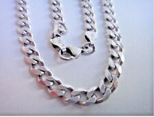 6mm Men's Italian Curb Link Chain Necklace 20 Inch Sterling Silver Italy 925 FMG