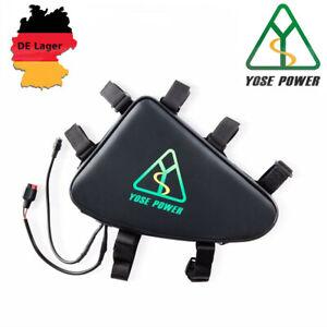 YOSE POWER E-Bike Batterie 48V 15Ah Akku mit Dreieckstasche Unterrohr Dreieck