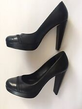 COLE HAAN Nike Air Women's Size 7.5 B Black Zipper STEPHANIE Pumps Heels $340