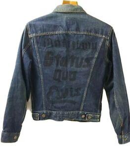 """1970's Rare Original LEVI'S BIG E Vintage Denim Jacket 38""""  Unwashed Unique 16"""