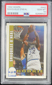 1992 Hoops Shaquille O'Neal Orlando Magic #442 Basketball Card PSA 10!!!!!