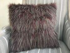 "Threshold Faux Fur Ostrich Purple Decorative Throw Pillow  ~ 18"" × 18"""