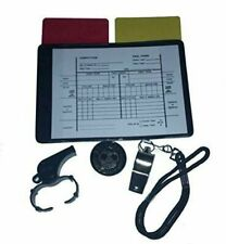 Soccer Referee Kit 1 Data Wallet 1 Toss Coin 2 Whistle 2 Cards Red Yellow
