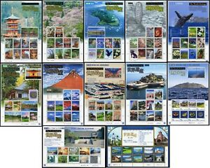 Japan 2006 - 2019 3rd World Heritage Series Sheetlets MNH