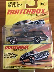 NEW 2010 LESNEY EDITION MATCHBOX '71 Oldsmobile Vista Cruiser Woody Wagon RARE