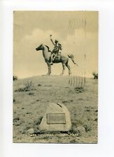 Hingham Ma Mass Soldiers Memorial, statue, sender looking for postcards, 30's?
