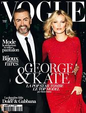 """""""VOGUE"""" OCTOBRE 2012 COUV SUR GEORGE MICHAEL + KATE MOSS ETAT PROCHE DU NEUF"""