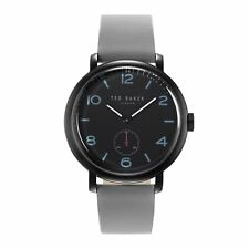 Ted Baker Gents Haarry Watch Black Dial & Grey Leather Strap TE50372002