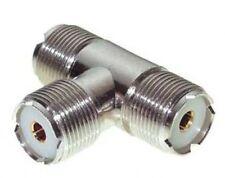 UHF T-ADAPTER PL 258 Y-VERTEILER 3x KUPPLUNG (BUCHSE)