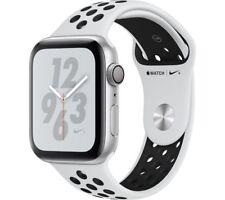 APPLE Watch Series 4 Nike+ - Platinum & Black Sports Band, 44 mm