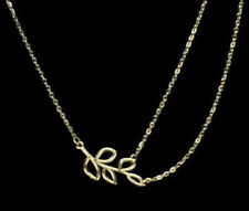 Necklace Double Chain Pendant Charm Jewelry Silver Fashion Choker Charms Leaf