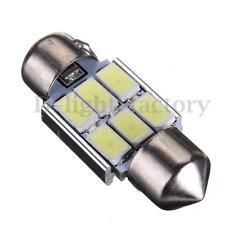 1X 31mm 6 SMD 5630 LED Pure White Car Festoon Interior Dome Light Lamp Bulb 12V
