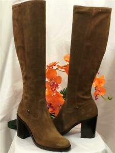 NIB FRYE Women's Madison Stretch Tall Suede Boots #72546 Chestnut Sz 7.5M $528