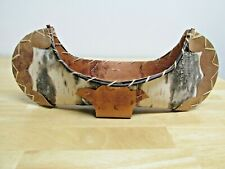 "New ListingVintage Souvenir Birch Bark 19"" Canoe Rustic Decor"