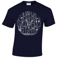 Dark Forest T-Shirt Mens fantasy alice woodland goth tim burton magical gothic