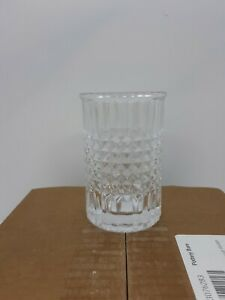 NEW Pottery Barn Pressed Glass Toothbrush Holder