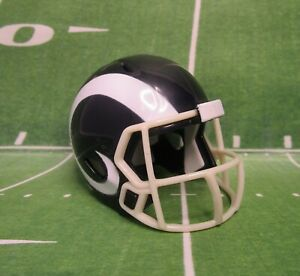 2017  Riddell NFL Pocket Size - LOS ANGELES RAMS Football Tiny Helmet ~2 Inches