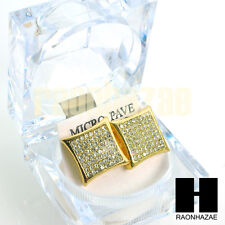 Lab Simulated Diamond Gold Hip Hop Iced Out 15mm Big Bling KITE Earrings GE139G