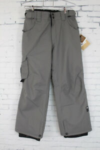New 2015 Youth Boys Ride Charger Pant Snowboard Pants Medium Gray Storm