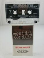 Star Wars John Williams Movie Soundtrack Cassette Tape London Symphony 1982 RE