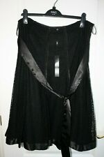 BNWT _ Per Una M&S Satin & Lace Effect Skirt - Size 16 - RRP £49.50