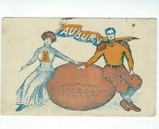 Vintage Early 1900's Auburn Tigers Football Postcard