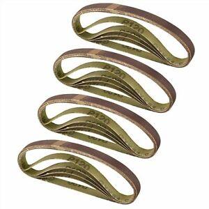 20 Pcs 13mm x 457mm Fine 120 Grit Abrasive Alu Oxide Powerfile Sander Belt