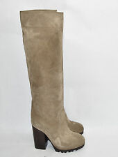 New! Michael Kors Collection 'Greyson' Suede Tan Brown Taupe Platform Boots 7.5