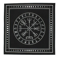 Triple Moon Pentagram Altar Tarot Cloth Black Divination Cards Wicca Velveteen