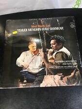 "SEALED LP: Yehudi Menuhin / Ravi Shankar ""WEST MEETS EAST"" Angel 36418"