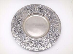 Swedish PRIMA N.S. Nilsjohan Silverplate Culture / Heritage Plate