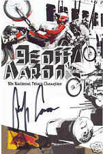 #117 GEOFF AARON SIGNED RED BULL HANDOUT TRIALS CHAMPION