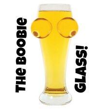 BOOB HOOTERS BREAST BIG TALL BEER GLASS ~ Amazing + 1 Million Bill Bonus