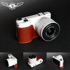 Handmade Genunie real Leather Half Camera Case Camera bag for Samsung NX2000