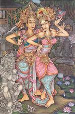 Hand painting Balinese Arjuna Sita Ramayana 262