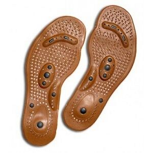 Foot Pain ? Acupuncture Healing Magnetic Feet Therapy Shoe Insoles, Gents' Gift