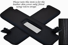 BLACK STITCHING FITS VAUXHALL OPEL TIGRA 04-09 2X SUN VISORS LEATHER COVERS ONLY