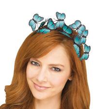 Butterfly Headband Blue Sexy Fairy Princess Womens Adult Costume Accessory