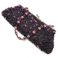 Indian Wedding Bag Handbag Evening Bag Clutch Perlenstrickerei Purple