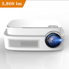 HD 1080P Video Projector Portable LED 3800 ANSI Lumens for Home Office Business