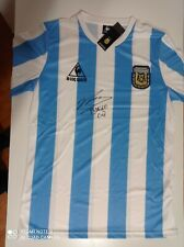Maradona Argentina signed shirt. Maglia da calcio Argentina autografata Maradona