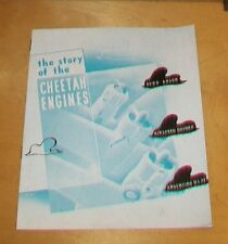 STORY OF THE CHEETAH ENGINES BROCHURE.ARMSTRONG SIDDELEY Mk 15  Mk 25 FRENCH