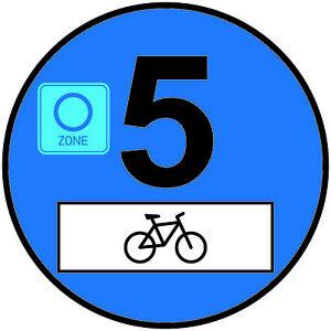 2x Euro 5 Plakette Fahrrad Umweltplakette  Feinstaubplakette Spassplakette