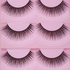 2Pairs Fake Eye Lashes Extension False Eyelashes  Maquillaje falso Pestañas