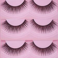2Pairs Fake Eye Lashes Extension False Eyelashes  Maquillaje falso Pestañas