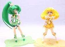 """Smile PreCure Cure Peace Cure March Figure2PCS Authentic 6.5"""" Banpresto JP A1945"""