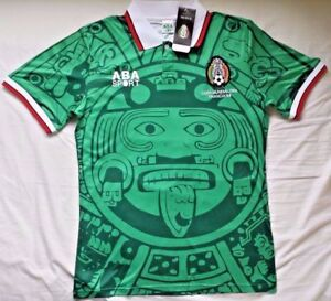 MEXIQUE 1998 CHEMISE DE FOOTBALL DE QUALITÉ SUPÉRIEURE VINTAGE TOP HOT NOUVEAU
