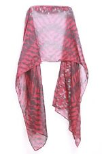 Maroon Black Grey Abstract Jungle Inspired Print For Passionate Lady Scarf S157